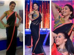 Arpita Mehta Black Saree
