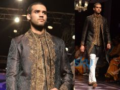Three Piece Black Bandhgala Sherwani