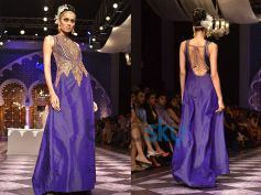 Sleeveless Royal Blue Gown