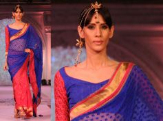Blue and Red Saree