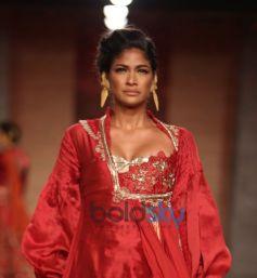 Red Silk Anarkali Gown