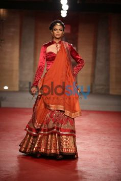 Saffron and Red Lehenga