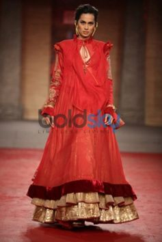 The Red Anarkali Gown