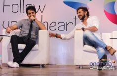 Ayushmann Khurrana with Terrence Lewis during an interactive session with students Follow Your Hear
