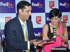 Actress Mandira Bedi attended the Launch of FedEx's Rakhi special offer