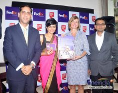 Celebs present during the Launch of FedEx's Rakhi special offer