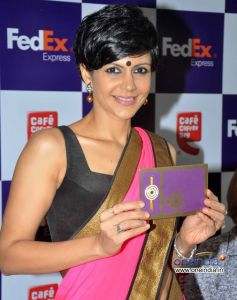 Mandira Bedi during Launch of FedEx's Rakhi special offer