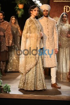 Golden Beaded Lehenga