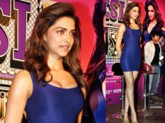 Deepika In Navy Blue Body Con