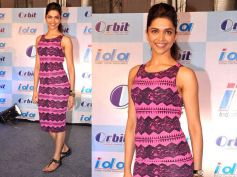 Deepika In Shaded Pink Body Con