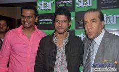 Farhan Akhtar, Eepsita Guha and Siddharth Kannan at the cover launch Star Week Sept 2013 issue