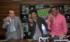 Farhan Akhtar, Eepsita Guha and Siddharth Kannan at Unveiling of Star Week magazine September 2013