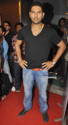 Cricketer Yuvraj Singh at Relaunch of Golds Gym Bandra