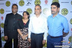 Dr Satyapal Singh with his wife Alka Singh and Vishwas Nangre Patil at Relaunch of Golds Gym Bandra