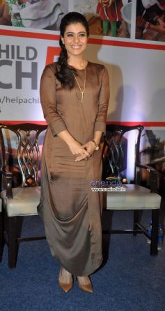 Kajol attends a press conference in Mumbai