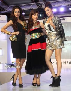Malaika Arora, Soha Ali Khan and Anusha Dandekar during the Tony & Guy hair meet wardrobe launch