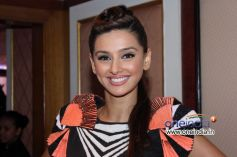 Model Shibani Dandekar during Toni and Guy Hair Meet Wardrobe Launch