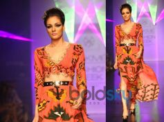 Orange Scooped Kaftan