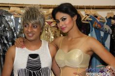 Rohit Verma with Television actress Mouni Roy at his new festive collection launch