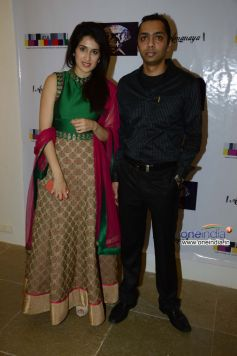 Sagarika Ghatge with Sagar Parikh of SSI at the Sagar Samir International collections Fashion show