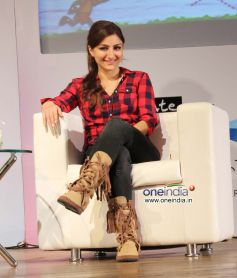 Soha Ali Khan during an interactive session with students Follow Your Heart