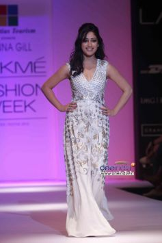Mahie Gill walks the ramp at Lakme Fashion Week Winter/Festive 2013 Day 01