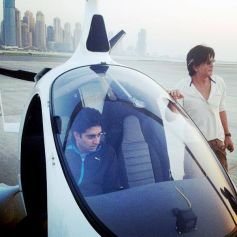 Abhishek Bachchan Inside Gyro Copter At Skydive Dubai Events