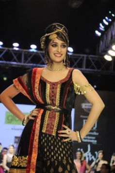 Actress Deepika Samson In Black and Golden Mix  Dress At Brand Globus