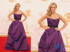 Carrie Underwood in Romona Keveza arrives at the 65th Primetime Emmy Awards at Nokia Theatre