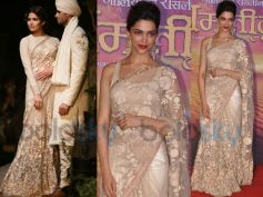 Deepika In lace saree from Sabyasachi new collection