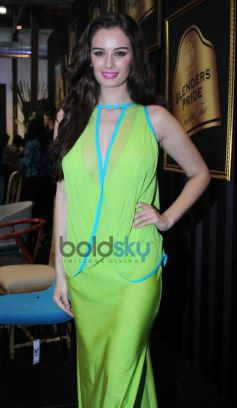 Evelyn Sharma In Green Dress At Blenders Pride Fashion Tour
