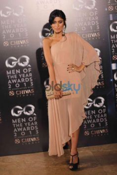 Model with her cream color costume GQ Man of the Year Award 2013