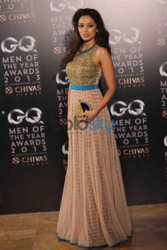 Model with beautiful dress in GQ Man of the Year Award 2013