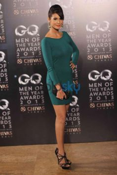 GQ Man of the Year Award 2013 grll in her green costume