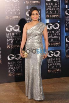 Rani Mukherjee Silver costume at GQ Man of the Year Award 2013