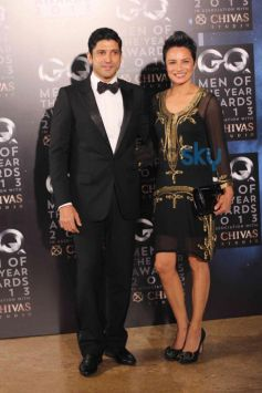 Farhan Akhtar & Adhuna Akhtar at GQ Award 2013