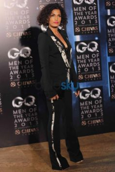 Model in her full black costume GQ Man of the Year Award 2013
