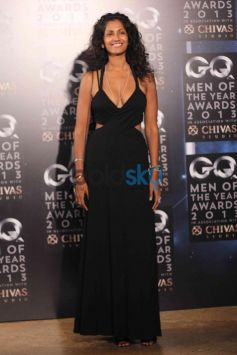 Girl IN Black Costume GQ Man of the Year Award 2013
