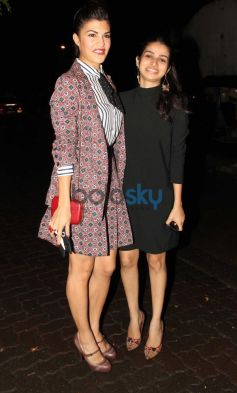 Jacqueline Fernandez with girl at Olive Bar