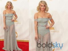 Julianne Hough, in Jenny Packham, arrives at the 65th Primetime Emmy Awards