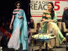 Kajol In Silk Lace Saree From Sabyasachi's couture