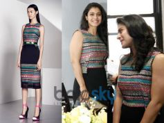 Kajol surprised in Prabal Gurung outfit
