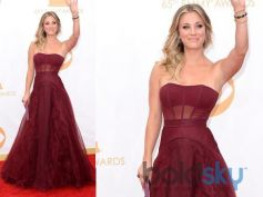 Kaley Cuoco at the 65th Annual Primetime Emmy Awards held at Nokia Theatre