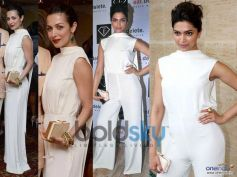 Malaika Arora Khan And Deepika Padukone In Same White Round Collar Neck