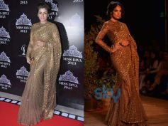 Raveena Tandon looked glittering gold in Sabyasachi's new creation