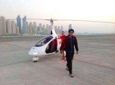 Shah Rukh Khan & Abhishek Bachchan at Skydive Dubai Events