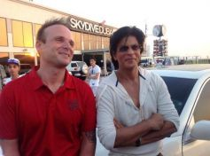 Shah Rukh Khan Posing Camera at Skydive Dubai Events