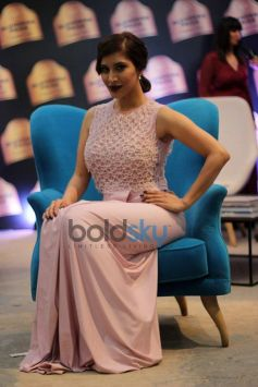 Sophie Choudry In her Light Pink Dress At Blenders Pride Fashion Tour 2013