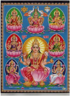 The Lord Lakshmi Eight Forms