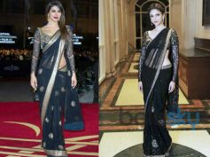 Aditi Rao Hydari's Stylish Appearances Black Saree